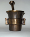 Mortar and pestle - sand casting, bronze-2-base.xcf