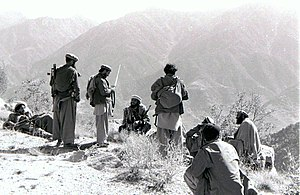 Soviet–Afghan War - Image: Mortar attack on Shigal Tarna garrison, Kunar Province, 87
