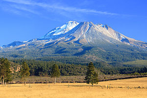 Mount Shasta - Mount Shasta as seen from a small farm south of Weed, California