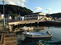 Mouth of Yobukogawa River and fishing vessels.JPG