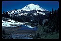 Mt Rainier reflecting in Tipsoo Lake. Cars, road and parking loat. Dated 121985. slide (d2093aedbbfd42d59c88bf0bcb24cd37).jpg
