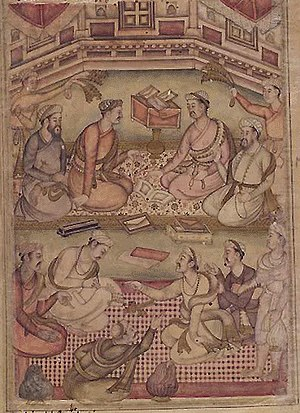 Debate - A Debate among Scholars, Razmnama illustration