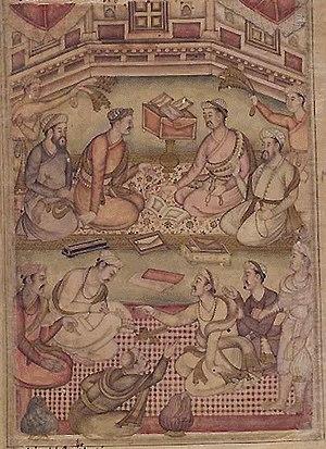 Debate - A Debate among Scholars, Razmnama illustration