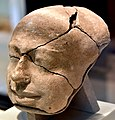 Mummy mask, templet, dating back to the Old Kingdom. From Abusir, Egypt. Neues Museum, Berlin.jpg