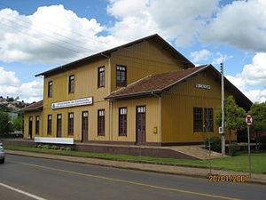 "Caçador - Contestado Museum. The building is a reconstruccion of rail station ""Rio Caçador""."
