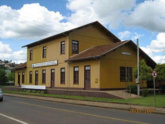 """Caçador - Contestado Museum. The building is a reconstruction of the """"Rio Caçador"""" rail station."""