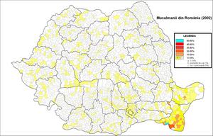 Islam in Romania - Muslims in Romania (2002)