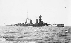 Nagato-class battleship - Mutsu at sea, 19 October 1921