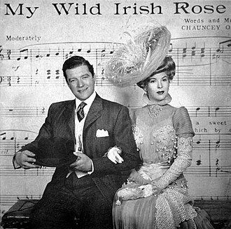 Chauncey Olcott - Dennis Morgan as Chauncey Olcott and Andrea King as Lillian Russell in My Wild Irish Rose (1947)