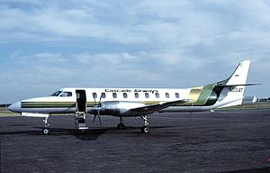 Cascade Airways - A Metro III at Spokane in 1983.
