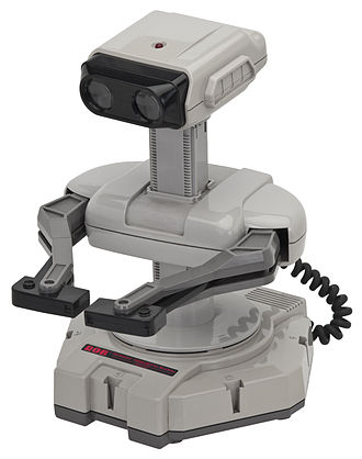 Nintendo Entertainment System - R.O.B. (Robotic Operating Buddy), an accessory for the NES's 1985 launch. Although it ended up having a short product lifespan, R.O.B. was initially used to market the NES as novel and sophisticated compared to previous game consoles.