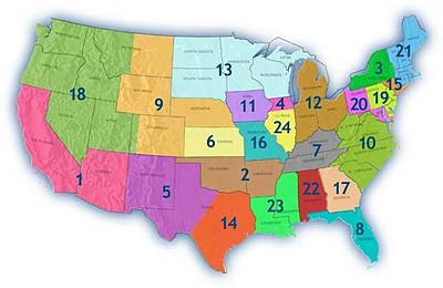 National Junior College Athletic Association Wikipedia - Map of us baseball teams