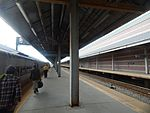 NJT train at Atlantic City Rail Terminal, May 2015.jpg