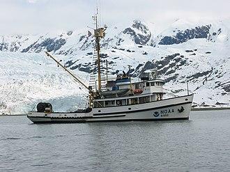Glacier Bay Basin - A Research ship of NOAA in the Glacier Bay