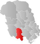 Locator map showing Nissedal within Telemark
