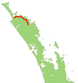 New Zealand State Highway 10 - Image: NZ SH10 map