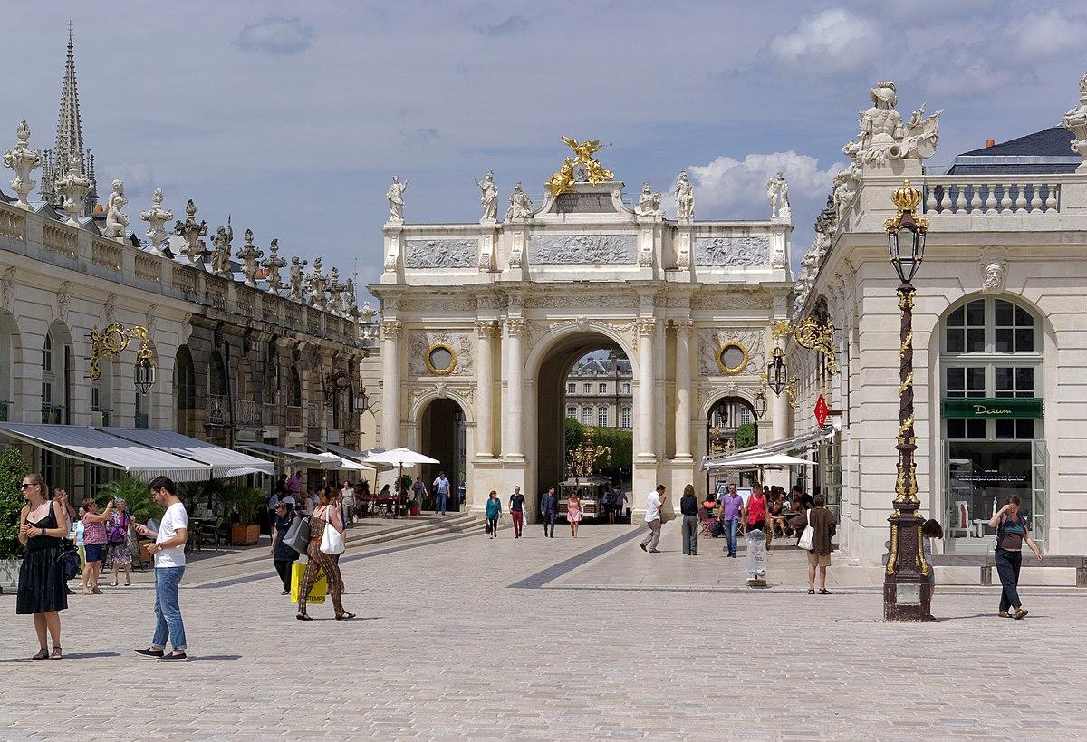 nancy place stanislas wikipedia bw porte lorraine wikimedia commons ville