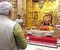 Narendra Modi performed puja at the Somnath Mandir.jpg