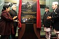 Narendra Modi unveiled the plaque to inaugurate the National Trauma Centre, at the official handover and inaugural ceremony of the National Trauma Centre, in Kathmandu, Nepal. The Prime Minister of Nepal.jpg