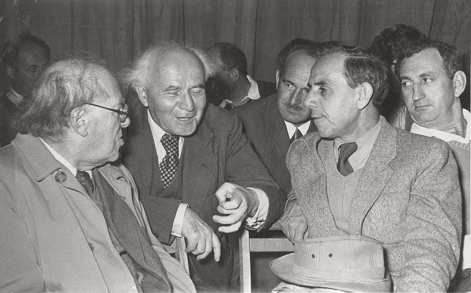 Nathan Goren with the First Prime Minister of Israel David Ben-Gurion, Israel, end of 1953
