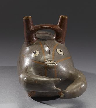 Bridge-spouted vessel - Nazca, effigy vessel formed as a lobster, AD 300-600 (Early Intermediate Phases IIII-IV)