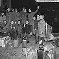 Nederlandse kernploeg naar Hamar vertrokken. Lamberts, Van der Grift, Verkerk, S, Bestanddeelnr 915-8674.jpg