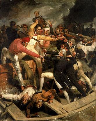 Assault on Cádiz - Nelson fighting a Spanish launch at Cádiz.