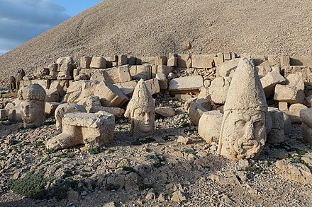 Sanctuary of Commagene Kings on Mount Nemrut (1st century BC) Nemrut Dagi 12.jpg
