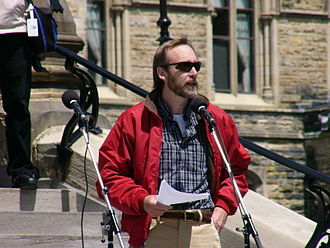 National Capital FreeNet - National Capital Freenet Executive Director (2002-2008) John Selwyn speaks at the Net Neutrality Rally, Parliament Hill, Ottawa, Ontario, 27 May 2008