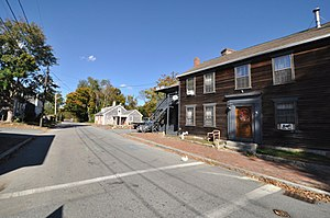 Head of the River Historic District - Houses on the New Bedford side of the river