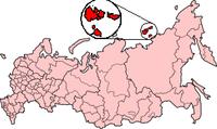 Новосибирските острови (източният сектор на Северния ледовити океан).