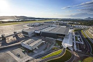 Bergen Airport, Flesland international airport serving Bergen, Norway