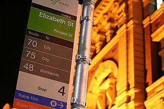 Metlink - Metlink signage colour-coded by transport mode
