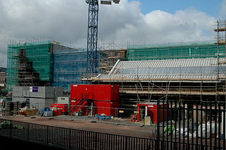 Jewellery Quarter - Construction work on the Newhall Square development in September 2008.