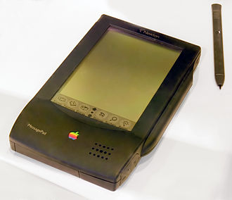 The Newton is Apple's first PDA brought to market, as well as one of the first in the industry. Though failing financially at the time of its release, it helped pave the way for the PalmPilot and Apple's own iPhone and iPad in the future. Newton-IMG 0320 cleanup.JPG