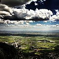 Nicosia and Mesarya plain from Kyrenia mountains.jpg