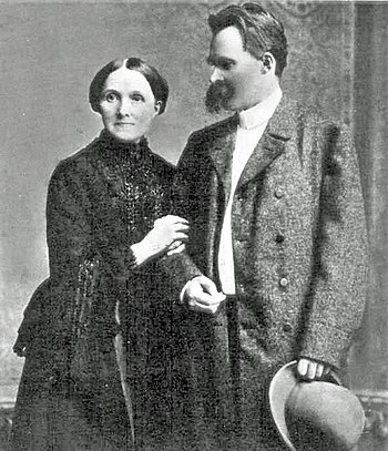 Friedrich Nietzsche and his mother.