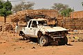 Niger, Margou (19), wrecked and abandoned Toyota.jpg