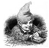 A nisse as stable-boy.