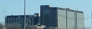 North Kansas City Hospital - The hospital from the Missouri River