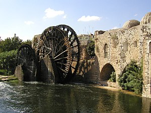 Orontes River - The Norias of Hama, dating from the 14th century