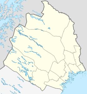 ESPJ på kortet over Norrbottens amt