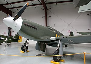 Yanks Air Museum - Preserved North American P-51A Mustang on display