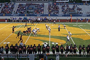 Memorial Stadium (Texas A&M–Commerce) - A football game between the Commerce Tigers and the North Lamar Panthers at Memorial Stadium
