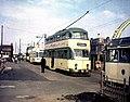 Northbound trams queueing at Bispham - geograph.org.uk - 1419282.jpg