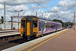 Northern rail Class 156, 156491, Wigan North Western railway station (geograph 4500067).jpg