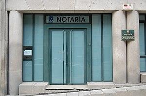Une étude de notaire à Vigo, Espagne.