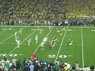 2011 Michigan Wolverines football team - Michigan on offense against Notre Dame.