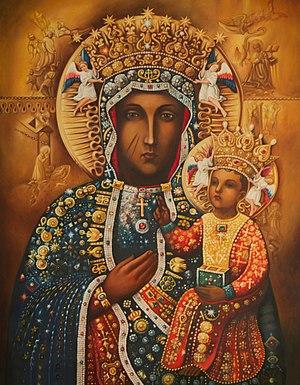 Black Madonna of Częstochowa - Image: Nuestra Señora de Czestochowa recubierta de Orfebrería