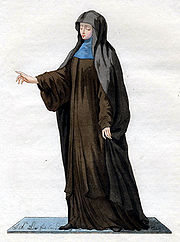Maronite nun from Mount Lebanon, painting from 1779.